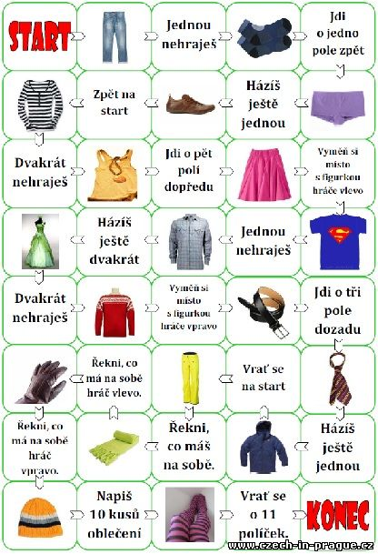 Learn Czech - Clothes (Game)